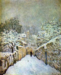 08 - Alfred Sisley - Schnee in Louveciennes - 1874 - Courtauld Institute, London
