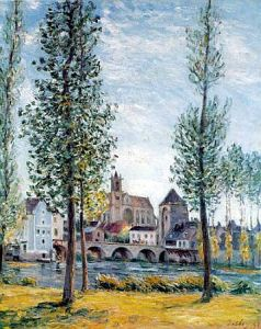 09 - Alfred Sisley - Moret-sur-Loing - 1892 - Privatbesitz